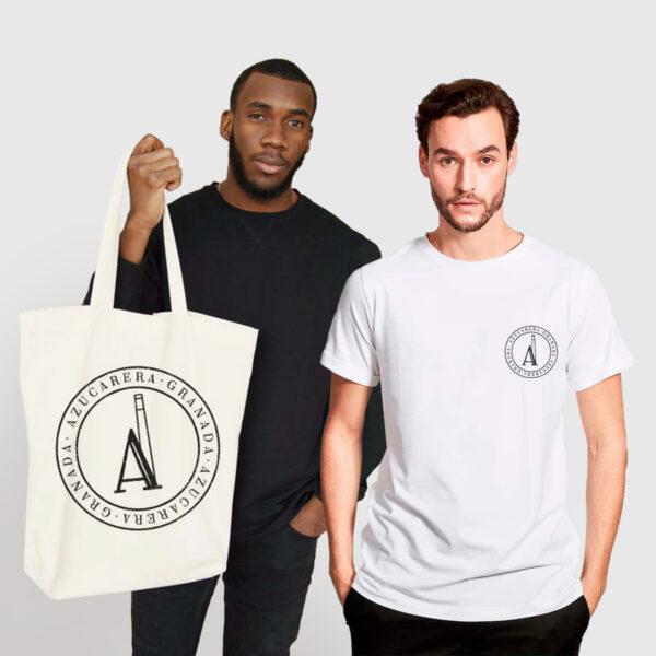 camiseta estándar y bolsa azucarera