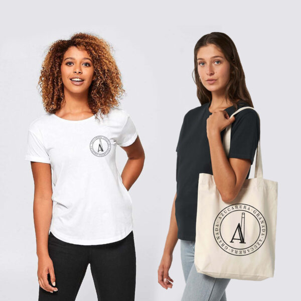 camiseta mujer y bolsa azucarera